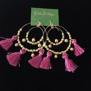Lilly Pulitzer Fringe's earrings - NWT in bag.